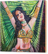 Belly Dancer Wood Print