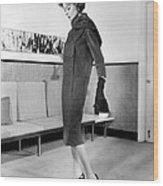 Below-the-knee Trapezoid Dress Wood Print by Everett