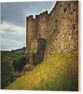 Belver Castle Wood Print by Carlos Caetano