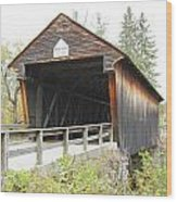 Bement Covered Bridge Wood Print