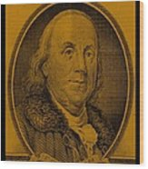Ben Franklin In Orange Wood Print