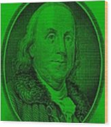 Ben Franklin Ingreen Wood Print