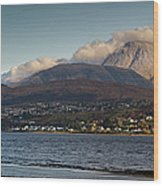 Ben Nevis And Loch Linnhe Panorama Wood Print