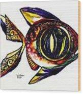 Benedict The Sixteenth Fish Wood Print