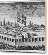Benjamin Franklin: Battery Wood Print