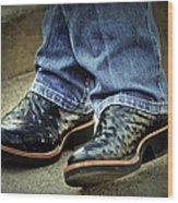 Bennys Boots Wood Print