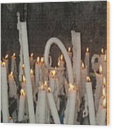 Bent Rememberance Candle Wood Print