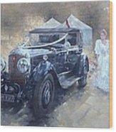 Bentley And Bride  Wood Print