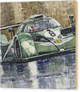 Bentley Prototype Exp Speed 8 Le Mans Racer Car 2001 Wood Print by Yuriy  Shevchuk
