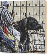 Berber Festival Wood Print by Chuck Kuhn