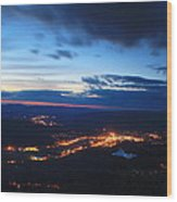 Berkshire Evening From Spruce Hill Savoy Mountain Wood Print