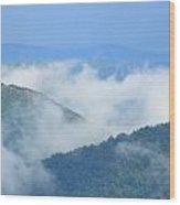 Berkshire Mist Deerfield River Valley Wood Print