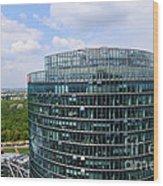 Berlin Bahn Tower Potsdamer Platz Square Wood Print
