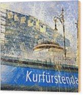Berlin Composing Wood Print