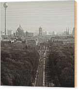 Berlin From The Victory Column Wood Print