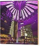 Berlin Sony Center Wood Print