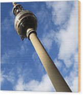 Berlin Television Tower Picture Wood Print by Falko Follert