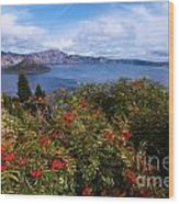 Berries By The Lake Wood Print