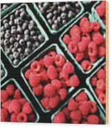Berry Baskets Wood Print by Denise Taylor