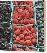 Berry Baskets Wood Print