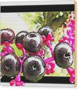 Berry Burst   Poke Berries Wood Print