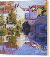 Beside The River - Grez Wood Print