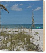 Best Beach Day Ever Wood Print