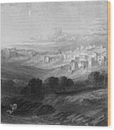 Bethlehem Engraving By William Miller Wood Print