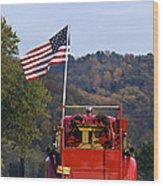 Bethlehem Fire Truck - D008199 Wood Print by Daniel Dempster