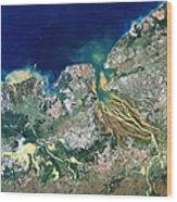Betsiboka Estuary, Madagascar Wood Print