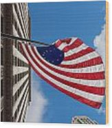 Betsy Ross Flag In Chicago Wood Print