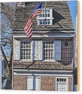 Betsy Ross House Wood Print