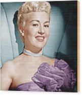 Betty Grable, Ca. 1950s Wood Print