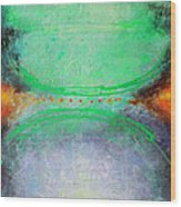 Between Red Dots Wood Print by Lolita Bronzini