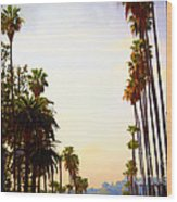 Beverly Hills In La Wood Print
