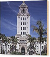 Beverly Hills Spanish Renaissance City Wood Print by Everett
