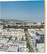 Beveryly Hills Panoramic Wood Print