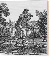 Bewick: Man Carrying Man Wood Print by Granger