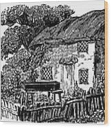 Bewick: Rural House Wood Print