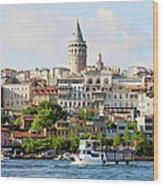Beyoglu District In Istanbul Wood Print by Artur Bogacki
