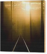 Beyond The Fog Wood Print