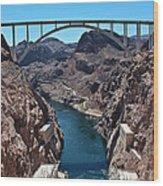 Beyond The Hoover Dam Spillway Wood Print