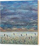 Beyond The Horizon Wood Print by Jeanette Stewart