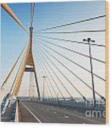 Bhumipol Bridge Wood Print