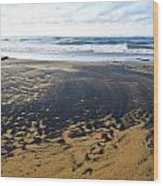 Bi Color Beach  Wood Print by Tim Fitzwater