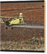 Bi Plane And Phone Pole Wood Print