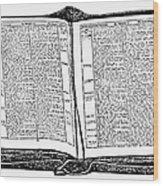 Bible, 19th Century Wood Print