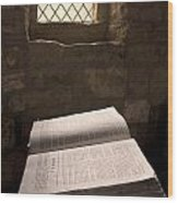 Bible In A Church, Rosedale, North Wood Print
