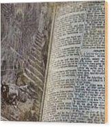 Bible Pages Wood Print
