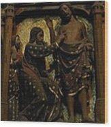 Biblical Scene At Notre Dame Paris Wood Print